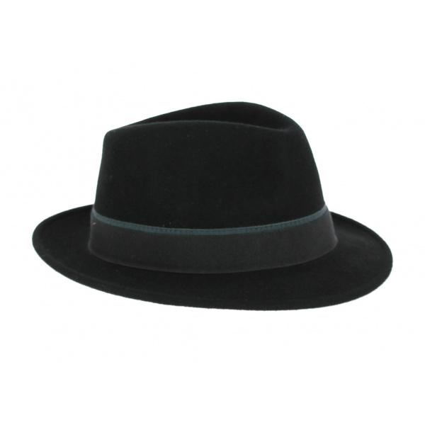 Chapeau Fedora Guéret Feutre Noir- Traclet