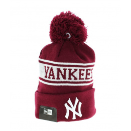 Pompom Cap Jake NY Yankees Bordeaux- New Era