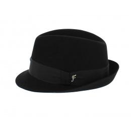 Chapeau Cosne Trilby Feutre Lapin Noir- Fléchet