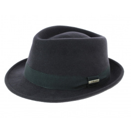 Grey trilby hat