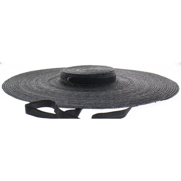 Chapeau Provençal noir - serre tête