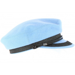 Casquette Marin Elven Bleue en Laine-Traclet