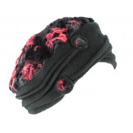 Bonnet Toque Polaire Annie Rouge/Noire- Traclet