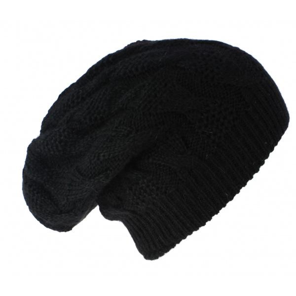 Bonnet Plat Abigail Angora Noir- Traclet