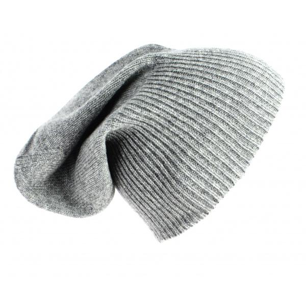 Bonnet Cachemire Classique Gris-Traclet
