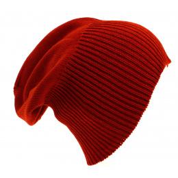 Bonnet Cachemire Classique Rouge-Traclet