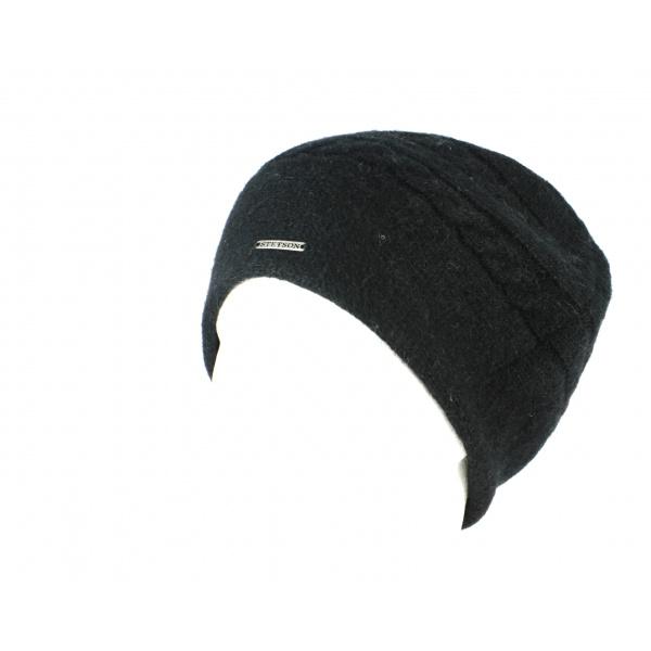 Bonnet Itasca en Alpaga Noir-Stetson