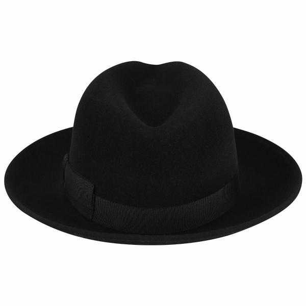 Chapeau Hereford Fedora Noir- Bailey
