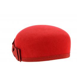 Chapeau Carla Bruni Feutre Laine Rouge- Traclet