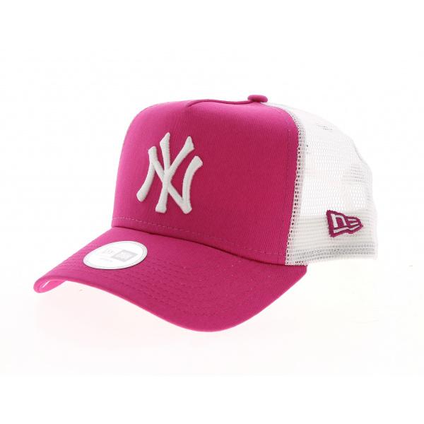 New York Yankees Essential Trucker Pink/White Cap - New Era