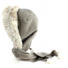 Capuche Norell Polaire Taupe- Traclet