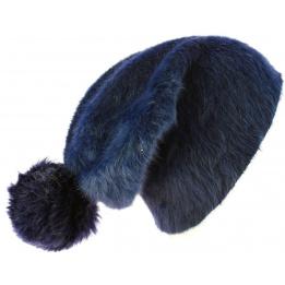 Bonnet Long Venice Angora Noir- Traclet