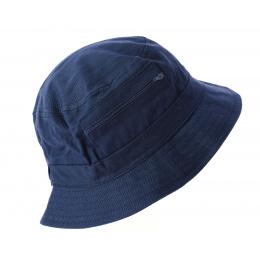 Chapeau Bob en Tissu Bleu Marine- Traclet