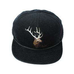 Casquette Stag Visière Plate Noire - The Wilderness - Coal