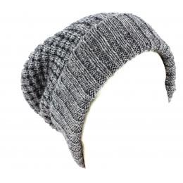 Bonnet Long Bellevarde Laine & Mohair Anthracite - Traclet