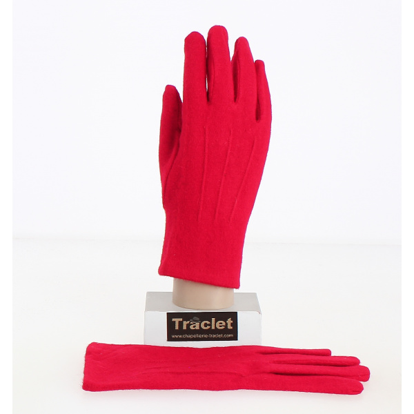 Gants Tactiles Femme Alice Laine Rouge- Traclet