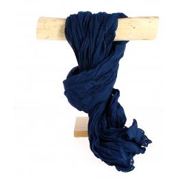 Chèche Torsade Bleu Cobalt Coton- Traclet