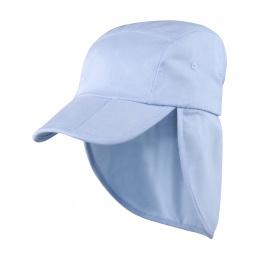 Casquette Saharienne Assouan Coton Bleu Ciel- Traclet