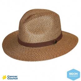 Chapeau Traveller Lightweight Fibres Naturelles Chocolat - Rigon Headwear