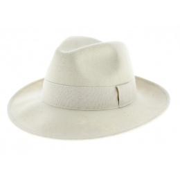 Chapeau Fedora Feutre Laine blanc Imperméable - Traclet