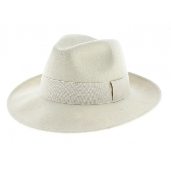 Fedora Hat Wool Felt White Water Resistant