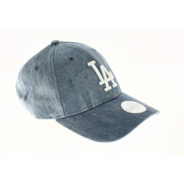 Tie Dye 9forty losd Cap - Blue jeans Los Angeles Dodgers Fit 9FORTY