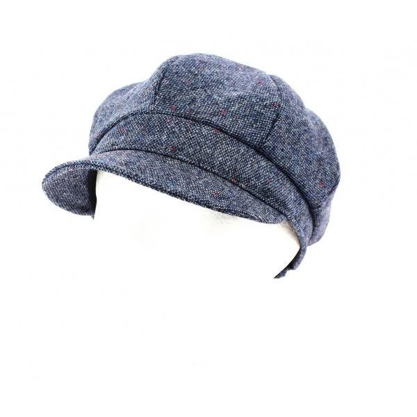 Casquette Gavroche Tweed Coco Bleue- Mayser