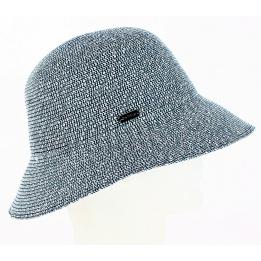 Chapeau Cloche Paille Gossamer Bleu- Betmar