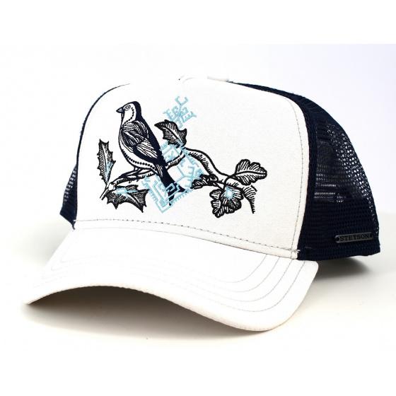 Casquette Trucker Oiseau Ecru & Bleue- Stetson