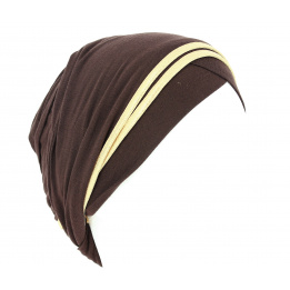 Turban Nubie Marron/Or
