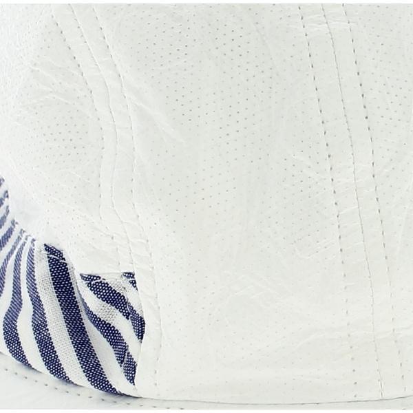 Casquette Visière Haute Protection Marennes Rayures Bleues- Soway