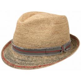 Chapeau Trilby Crochet Paille- Stetson
