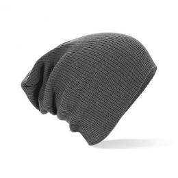 Bonnet Oversize Acrylique Gris- Beechfield