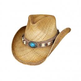 Chapeau Cowboy Jacinto Paille Naturel - Bulhide