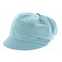 Casquette Gavroche Neaux Bleu Ciel Coton - Traclet
