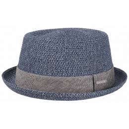 Chapeau Porkpie Robston Toyo  blue - Stetson