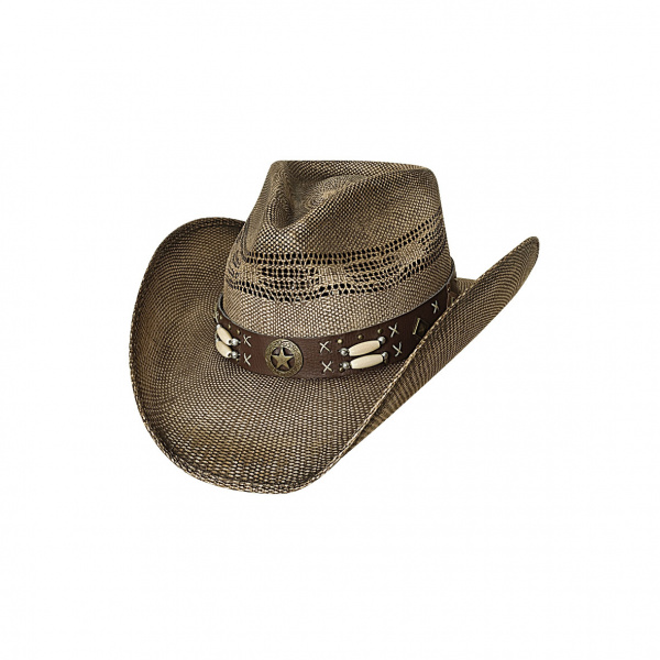 Chapeau de Cowboy Left Handed Gun Paille - Bullhide