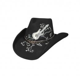 Chapeau de Cowboy Rock'n Roll Legend Feutre Laine Noir - Bullhide