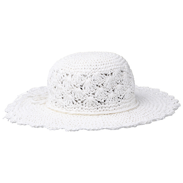 Capeline Jailly Paille Papier Blanche- Traclet