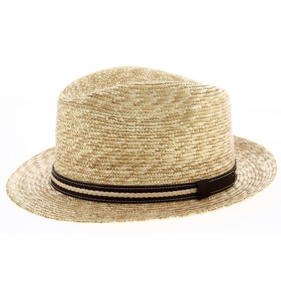 Chapeau Fédora Padirac Paille Naturelle- Traclet