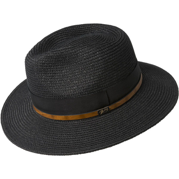 Chapeau Fédora Denney Paille Papier Noir - Bailey
