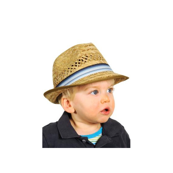 Straw trilby hat child