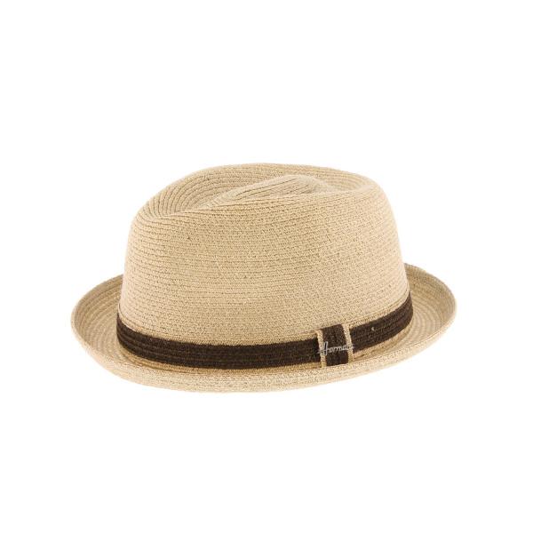 Chapeau Cloche Laura Paille Papier Bleu - Herman Headwear