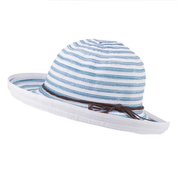 Chapeau Breton Blanc & Bleu- Emthunzini Hats