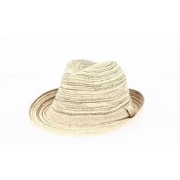 Chapeau Trilby Foggia Coton Beige- Traclet