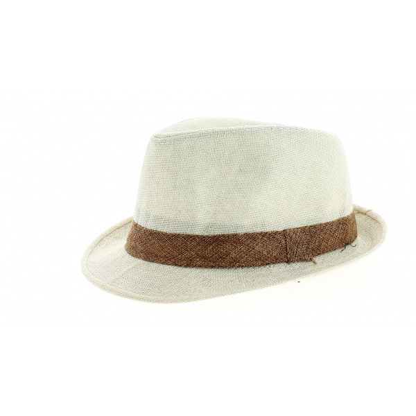 Chapeau Trilby California Lin Ivoire- Traclet