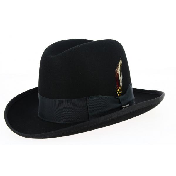 Homburg Hats Wool Felt Black- Traclet