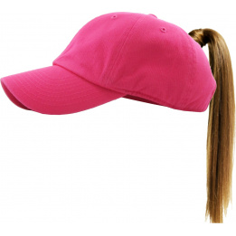 Classic Cap Ponytail Pink- Traclet
