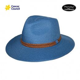 Chapeau Fedora Dallas Mannish Fibres Naturelles Bleu - Rigon Headwear