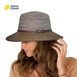 Chapeau Fedora Tara Mannish Fibres Naturelles Marron- Rigon Headwear